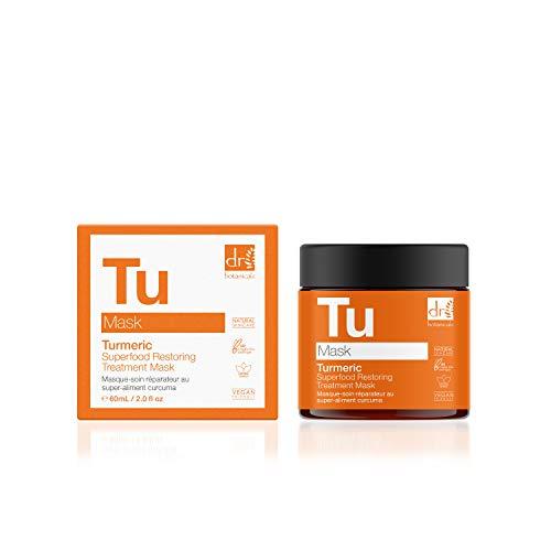 Dr Botanicals Kurkuma Superfood Restoring Treatment Hydrating Mask for Skin Regeneration and Skin Care 60ml Orange