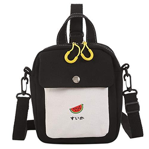 Funy Backpack,Jushye Women Girls Cute Fruit Messenger Bag Student Canvas Backpack Shoulder Bag
