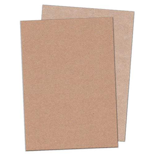 50 DIN A4-Bogen kräftiges, braunes Recycling-Papier 160 g/qm, Muskat Designrecycling