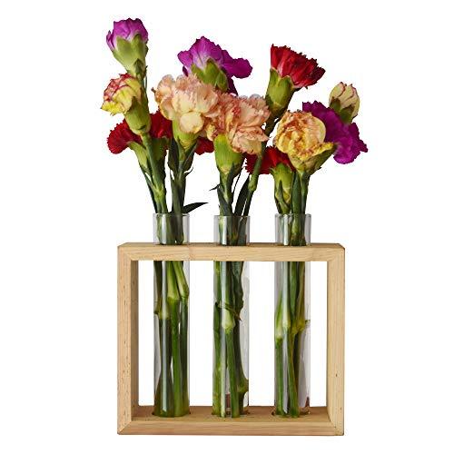 feiren Indoor/Outdoor-Wand-Rohr Flower Bud Vase mit Holz-Ständer–hier in der/plantagram, Club-/Sommer-Gang