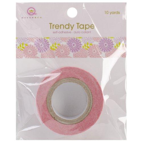 Trendy Ruban adhésif 15 mm fleur 10yds Motif Pom Pom