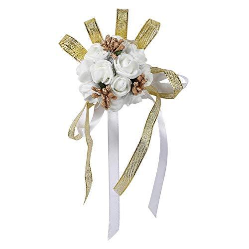 MAGT Handbloem, 1 stuk mooie handband bloem bruidsmeisje pols corsage gala bruiloft decoratie elegant en mooi