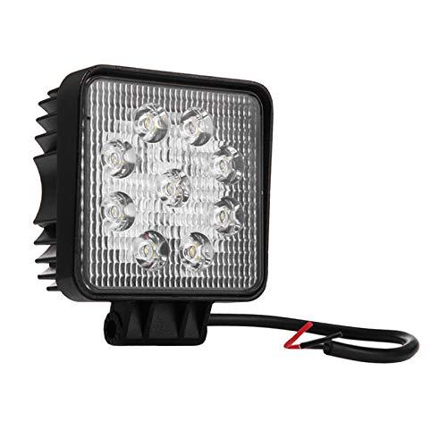 MagiDeal Foco de Luz de Trabajo LED Cuadrado de Aluminio 9-32V para Barco Tractor SUV