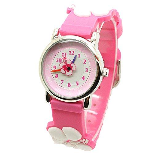 Godagoda - Reloj de pulsera analógico de cuarzo con diseño de flores y dibujos animados