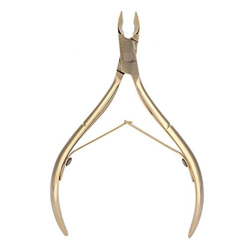 Yuyte Acciaio inossidabile Nail Cuticle Nipper Clipper Dead Skin Scissor Nail Manicure Gold