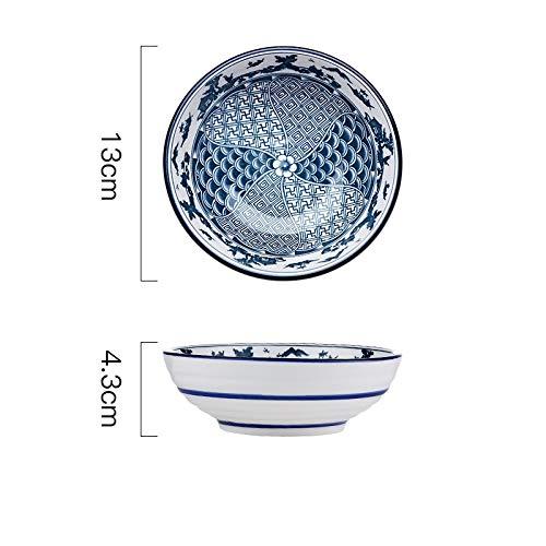 N / A JDSWLSchüssel Flache Schüssel Haushalt Kleine Schüssel Salatschüssel Instant-Nudelschüssel Suppenschüssel Keramikgeschirr