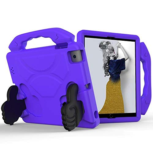 HHF Tab Accessories For IPad 4 3 2, Handgrip Stand Shock Proof Cover Kids Children Safe Shell case for IPad 4 3 2 A1416 A1458 A1459 (Color : Lilac, Size : IPad2 1395 1396 1397)