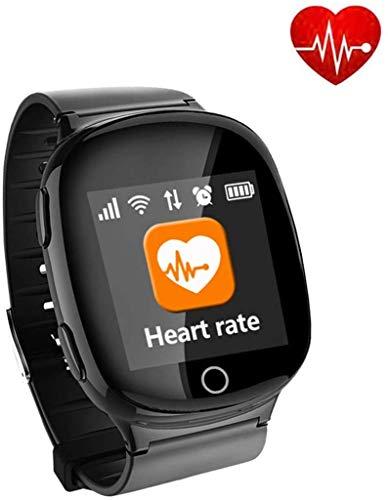 XIAOYU Smartwatch mit GPS Smart Watch Ältere Smart Safe Positioning Uhren Anruf SOS Pedometer Wasserdichtes for ältere SOS Alarm Taste und Sturzerkennung inkl.