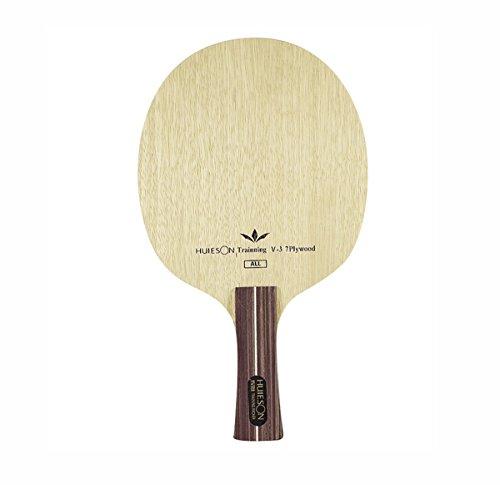 Tenis de mesa de carbono múltiples capas doble hoja mango largo formación Paddle para loop Attack ping pong raquetas, V3