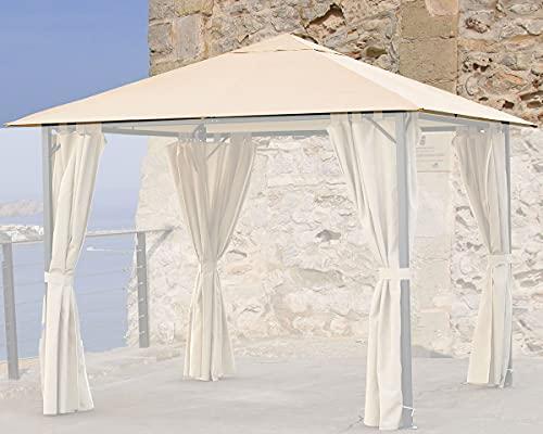 QUICK STAR Ersatzdach 3x3m Sand für Gartenpavillon Nizza Pavillon Partyzelt