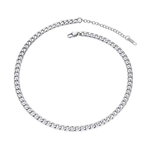 PROSTEEL Chunky Chain Choker 14 inches Short Steel Necklace for Women Boys Necklace