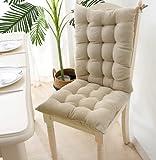 LUZIWEN Tumbona mecedora con respaldo alto antideslizante cojín para la vida en el hogar y la oficina (beige)