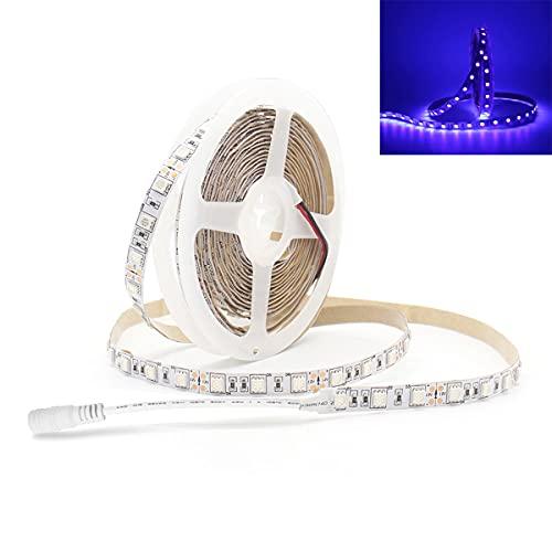 Tira de luz UV / Ultravioleta LED Lila SMD 5050 16.4FT / 5M 300 LEDs 12V luz LED para fiestas de interior, pintura corporal, boda