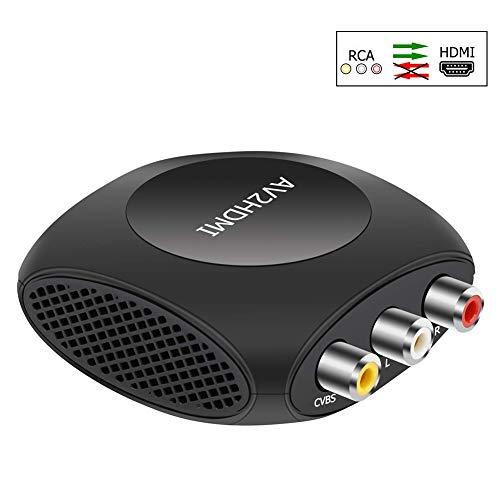 AV a HDMI Adattatore,Ozvavzk Composito CVBS RCA a HDMI Adapter Supporta 720/1080p con Cavo USB per Xbox PS4 PS3 TV DVD