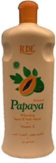 RDL Papaya Extract Whitening Lotion for Hand and Body, 600 ml