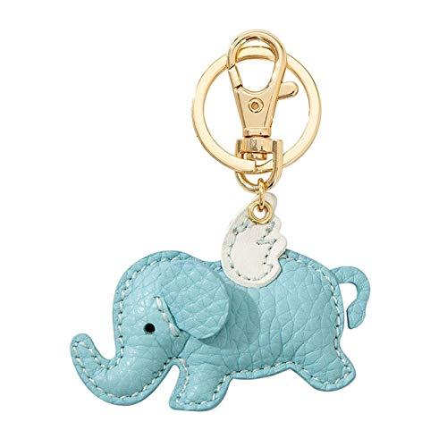 Llavero Elefante Cuero Animal Llavero Colgante Hecho A Mano