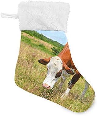 XiangHeFu Kerst kousen 6 PackBoerderij koe weideGift GagFamily Xmas vakantie decoraties