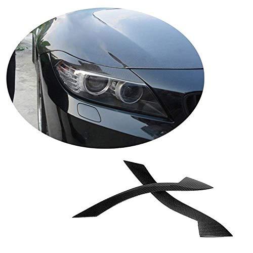 GUOLIANG Augenlider vorne 2 Stück Carbon-Faser-Scheinwerfer Eyelids Augenbrauen Abdeckung Augenlid Trim-Dekor Stiker for BMW Z4 E89 2009-2015 Car Styling