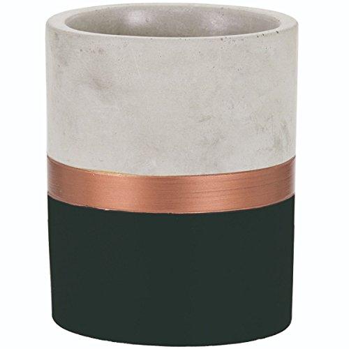 Moas Vaso em Cimento, Preto e Cobre, 1 Unidade