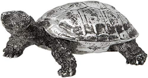 Maturi - Figura Decorativa de Tortuga de Plata (16 cm de Ancho)