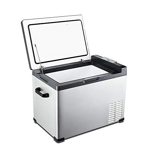 LIXUDECO Mini refrigerador Refrigerador del Coche Compresor Refrigeración Coche Camión Pequeño Congelador Coche & Hogar Doble Uso Refrigerar una Puerta
