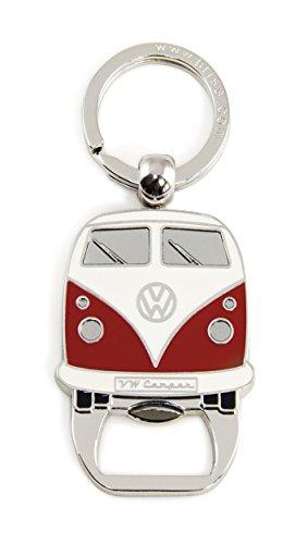 BRISA VW Collection - Volkswagen Combi Bus T1 Camper Van Porte-clés, Anneau Porte-clefs avec Décapsuleur, Idée de Cadeau/Souvenir/Produit Rétro Vintage (Avant/Rouge)