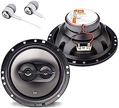 """$39 » JBL CS763 CS-Series 6-1/2"""" 135 Watts Peak Power 3-Way Coaxial Car Audio Stereo Loudspeakers Bundled with Alphasonik Earbuds"""