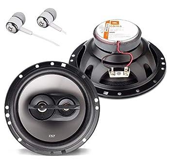 """JBL CS763 CS-Series 6-1/2"""" 135 Watts Peak Power 3-Way Coaxial Car Audio Stereo Loudspeakers Bundled with Alphasonik Earbuds"""
