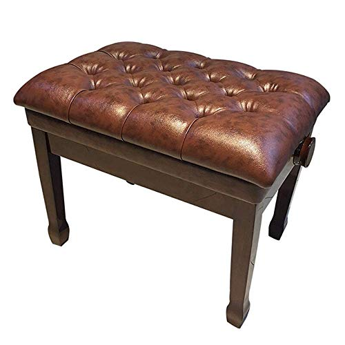 PIVFEDQX Piano Stool Piano Keyboard Bench Ergonomic Seating Padded Piano Chair Waterproof Instrument Stool Comfortable Seating Experience (Color : Brown, Size : 60x40x58cm)