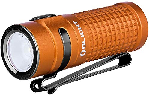 Photo of OLIGHT S1R II Orange LED Flashlight 1000 Lumen Compact Rechargeable Torches EDC Flashlight with Single IMR16340 and Magnetic Charging Cable (Orange)