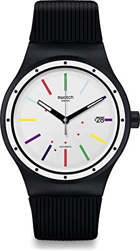 Swatch Reloj Analógico para Hombre de Cuarzo Suizo con Correa en Silicona SUTB408