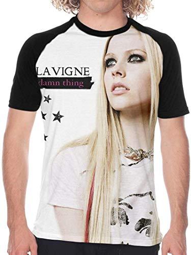 Man'S Avril Lavigne Stylish Full Size Baseball T-Shirt Short Sleeves tee Gift