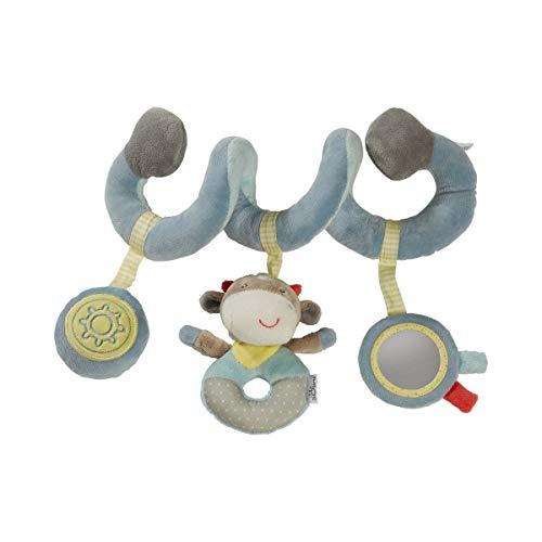 solini Spielspirale Kälbchen - Activity-Spirale mit Rassel, Quietsche & Spiegel - Baby-Spielzeug für Kinderbettchen, Spieltrapez & Kindersitz