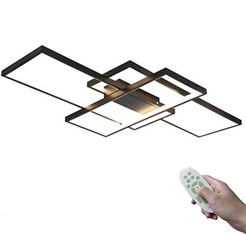 CCLLA Lámpara de Techo LED, Lámpara de Sala de Estar Rectangular Regulable...