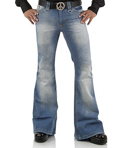Comycom Jeans mit Schlag verwaschen Star Blue 72 33/32