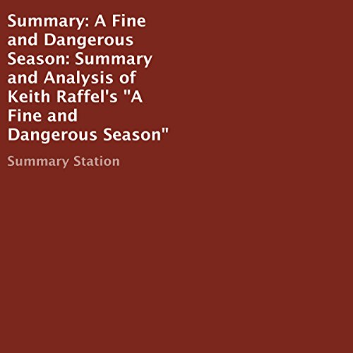 Summary: A Fine and Dangerous Season audiobook cover art