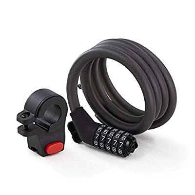 Segway Ninebot 5-Digit Combination Cable Lock for Bikes and Scooters