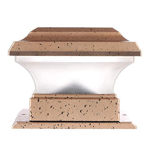 Mutuer Solar-Pfosten-Kappen-Lichter, Solarenergie-Zaun-Pfosten-Lichter wasserdichte Garten-Landschafts-Yard-Säulen-Lampe im Freien warmes Licht