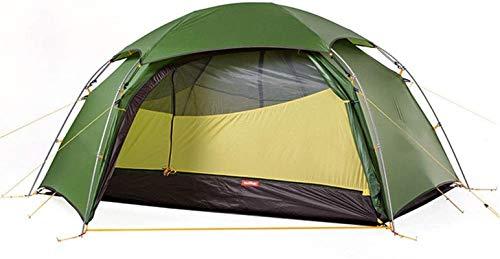 Tienda de campaña Ligera, Tienda Tent Hexagonal Tienda Al Aire Libre Impermeable Alpinismo Camping Doble Tienda de Polos de Aluminio para Pesca Mochilero (Color: Verde, Tamaño: 210x120x105cm)