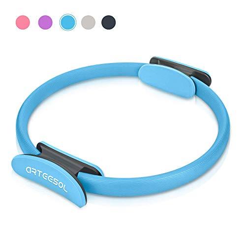 arteesol Pilates Ring, Oberschenkeltrainer Magic Fitness Kreis Widerstandsring Loop 38cm für Home Office Studio, Stärkung der inneren und äußeren Oberschenkel/Arme