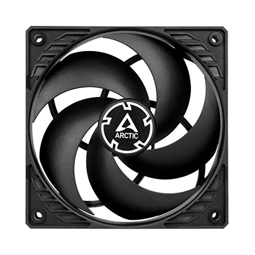 ARCTIC P12 PWM PST Value Pack - 120 mm Case Fan, Five Pack, PWM Sharing Technology (PST), Pressure-optimised, Very quiet motor, Computer, 200-1800 RPM - Black/Black
