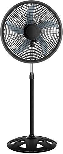 HealSmart 18 Inch Pedestal Stand Fan 3 Adjustable Speed for Indoor, Bedroom, Living Room, Home Office & College Dorm Use, 18 Inch, Black