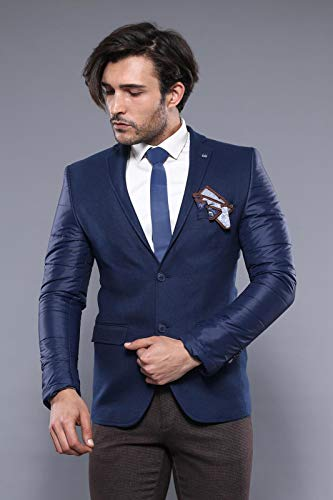 Wessi Gesteppte Ärmel Und Rückenjacke Business Suit Jacket, Armada, 50 Mens