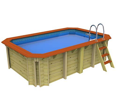 Plastica Schwimmbecken aus Holz, ohne Gegenstrom – 2,4 m x 3,9 m