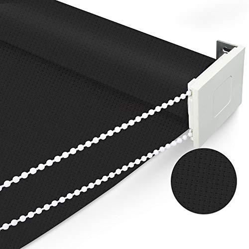 YUDEYU Media Sombra Persiana Enrollable Instalación De Punzonado Manual Levantar Impermeable Sombrilla Cortina Impermeables Protección Solar (Color : A, Size : 60x165cm)