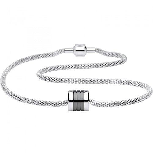 Bering Time Damen-Kette und Charm aus Edelstahl Charm-Set-80, Länge:45 cm