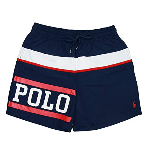 Polo Ralph Lauren Herren Badeshort Badeboxer Swim Shorts L Blue (001)