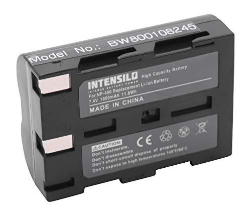 INTENSILO Li-Ioni Batterie 1600mAh (7.4V) per Foto/Videocamera Samsung GX-10, GX-20 come NP-400, D-Li50, SLB-1674.