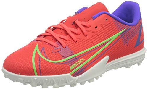 Nike JR Vapor 14 Academy TF, Zapatillas de ftbol, BRT Crimson Mtlc Silver Indigo Burst White Rage Green, 36 EU