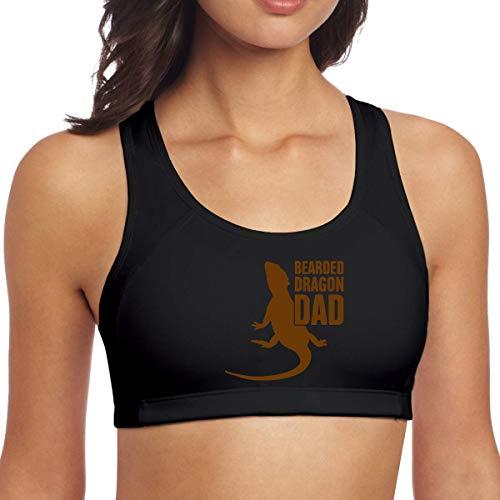 YBRB Bearded Dragon Dad Damen Nahtloser Sport-BH Alltags-BH